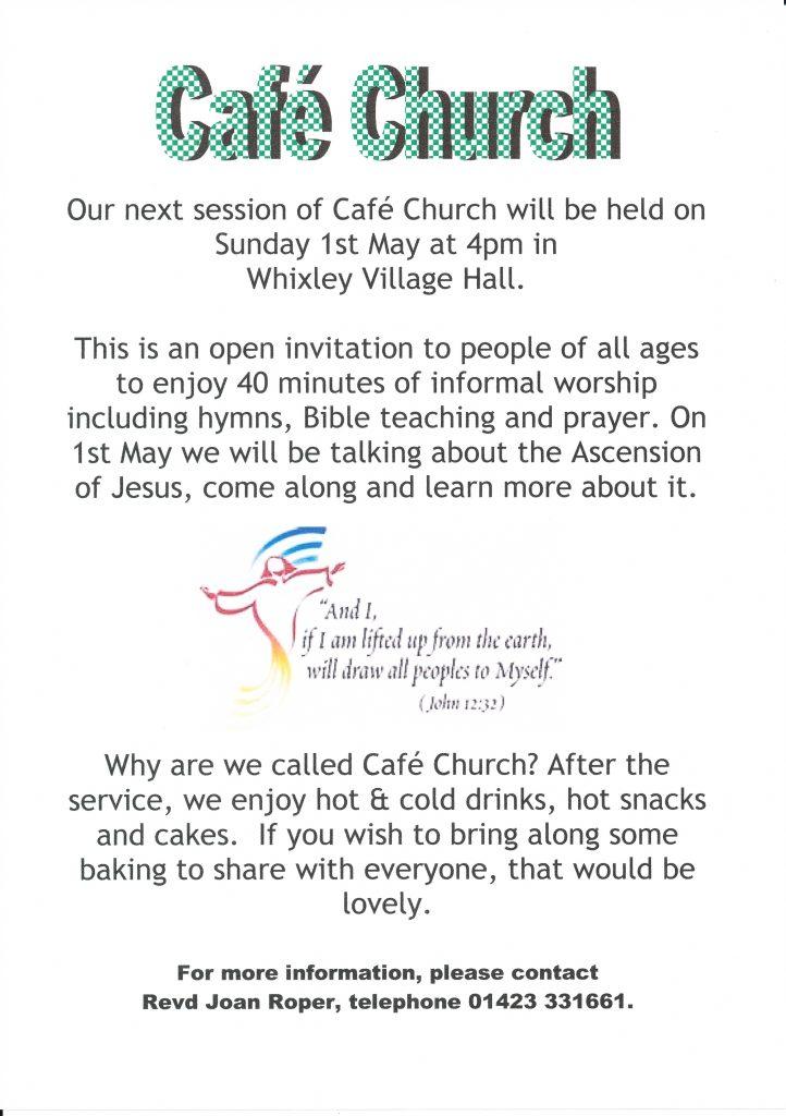 cafe church A5 flier