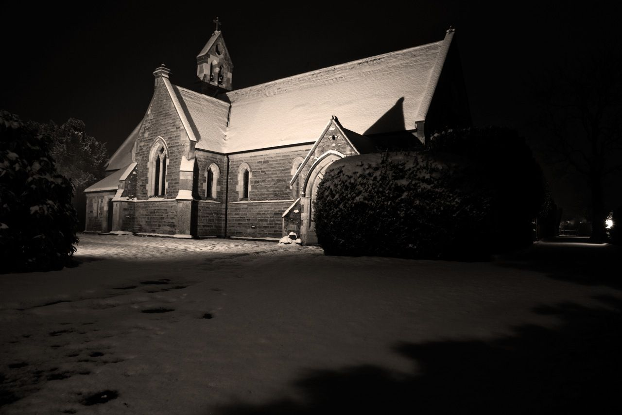 St Thomas's Church in the Snow